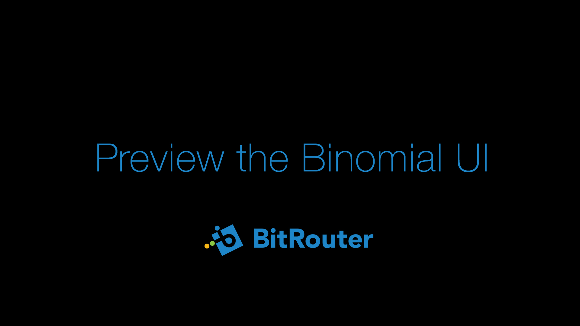 Click to Preview the Binomial UI